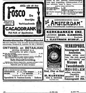 Advertentie uit 1915